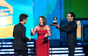 Gloria Estefan, Marc Anthony y Bruno Mars